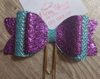 Purple and Turquoise 3D Bow