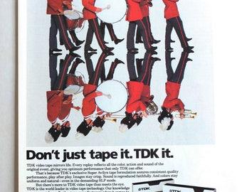 TDK Audio Cassette vintage 1980s print ad