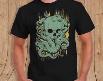 skull octopus shirt T-shirt