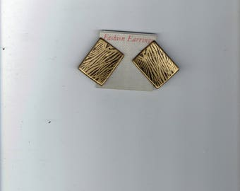 gold and black fashion earrings  1980's
