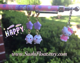 Molang Pastel Star Bunny Earrings
