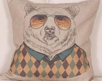 AARON bear pillow cover