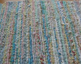 "Colorful handwoven rug, 24"" x 31"""