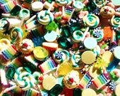 10/20/50pc Large fake candy cabochons - quality deco cabochon set - craft supplies - magnets  - decoden craft - jewellery making - embellish