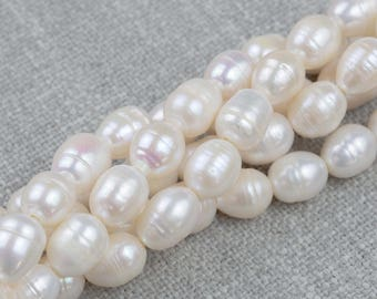 11x14mm Large Hole Freshwater Patatoe Pearl, Half strands!