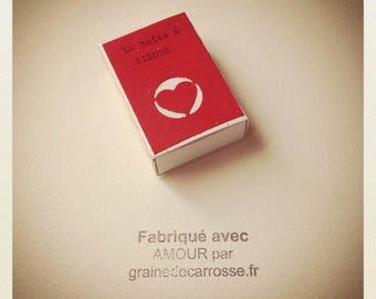 La boîte à BISOUS dans la collection des Minis Boîtes à BONHEUR de Graine de Carrosse