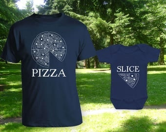 Pizza Slice Matching t-shirts,Father son matching shirts,Gifts for Him,Gifts for Dad,father's day gift,birthday gift,bodysuit - CT-1303-1304