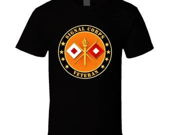 Army - Signal Corps Veteran T Shirt