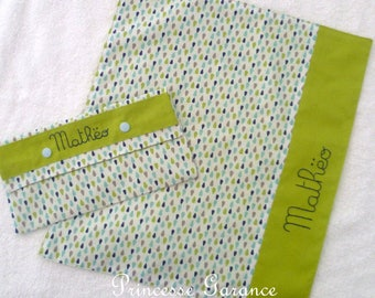 Back to school * napkin and matching pouch canteen