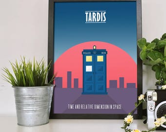 Doctor Who Tardis, Time And Relative Dimension In Space,  Doctor Who Poster, Tardis Poster, Minimalism poster, Minimalistic poster, Whovian