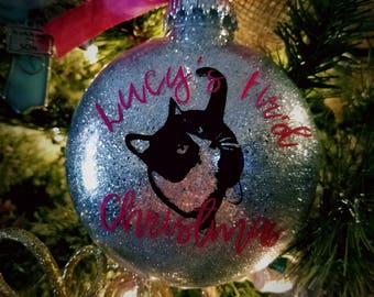 Cat's First Christmas Ornament - Kitten's First Christmas Ornament - Pet's First Christmas Ornament - Pet Lover's Gift - Rescue Pet Ornament