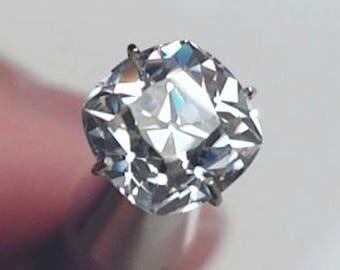 HARRO OLD MINE Cut Moissanite Loose Gemstones Moissanite Large Sizes Color E F Old Mine Cut Moissanite Engagement Rings 2 3 4 5 6  carat