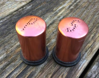 Little Copper Salt and Pepper Shakers