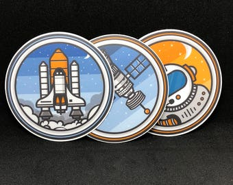Space Stickers Bundle | Stickers Variety Pack | Space Themed Stickers | Round 3x3 Stickers | Sticker Set | Space Sticker Pack