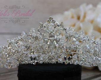 FAST Shipping!!! Swarovski Tiara,  CristalTiara, Wedding Tiara, Crown, Princess Tiara, Quinceañera, Cristal Headpiece