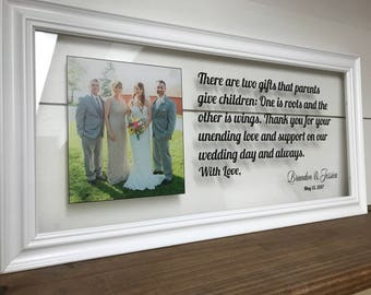 Wedding Picture Frame, Wedding Gifts for Parents, Wedding Picture Frame for Parents, Mother of the Groom Gift, Mother of the Bride Gift
