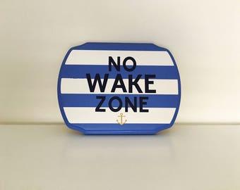 No Wake Zone wood sign   Nautical art   Nautical wall decor   Nautical nursery   Nautical signs  