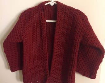Crocheted 2T Boys Cardigan