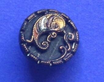 Antique Paisley Waistcoat Button