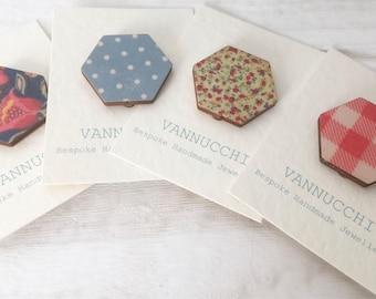 Wood Print Badges