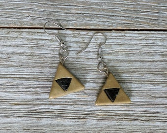 Traci's Trinkets - Handmade Legend of Zelda inspired Triforce Earrings