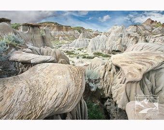 Hoodoos & Badlands - Nature, Landscape, Prairie, Desert, Rock, Photography, Home Décor, Wall Art, Picture, Prints, Canvas – Alberta, CA