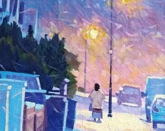 Snow Storm (2), Original Painting in Acrylic