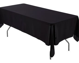 Etonnant 60 X 126 Inch Rectangular Black Tablecloth Polyester | Wedding Tablecloth