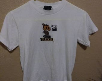 90s womens medium Blunt Rude Girls baby doll t-shirt made in L.A.