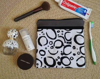 Pebble Print Toieltry Bag - Wet Pack - Overnight Bag - Cosmetic Bag - Wash Bag