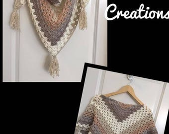 Triangle Granny Scarf~FREE SHIPPING!