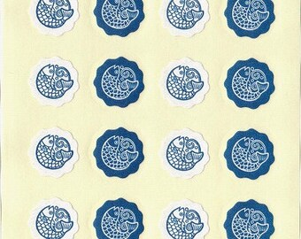 Koi Carp Fish Stickers - Paper Stickers - Reference A4056-59