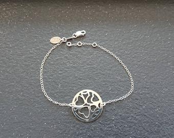 Silver 925 Heart Locket Bracelet