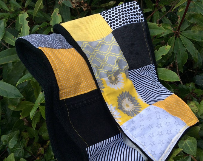 Patchwork Scarf 'Bundle Up Buttercup' Womens Scarf, Fleece,Upcycle,Made in Ireland,Warm, Cosy, Winter Accessories, The Swedish Flicka
