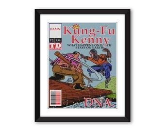 Kendrick Lamar Kung Fu Kenny #1 DNA. Comic Book Print
