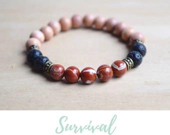 Red Jasper Bracelet / grounding jewelry, balance bracelet, best selling items, energy bracelets, spiritual mom gift, jasper yoga bracelet