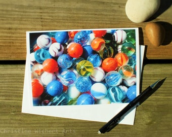 Marbles Card // Abstract Photo Card // Blank Greeting Card