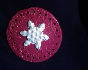 FREE SHIPPING Snowflake Christmas Holiday basket base for pine needle baskets, coil, etc.