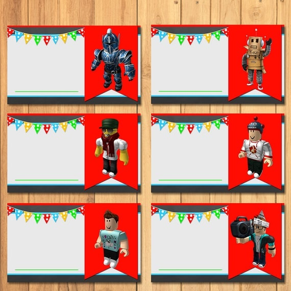 Roblox Food Tents Chalkboard * Roblox Birthday * Party Favors Candy Bag Tags * Roblox Food Signs * Roblox Birthday Party Printables