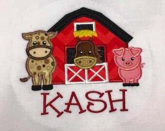 Farm Birthday Shirt - Barnyard - Party - Pig - Cow - Horse - Girls - Boys - Country - Barn