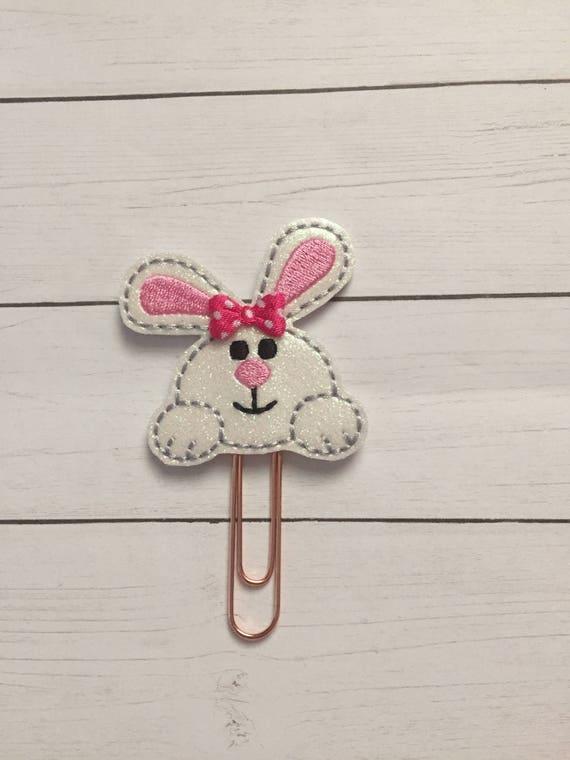 Glitter Bunny Cutie Planner Clip/Planner Clip/Bookmark. Bunny Planner Clip. Easter Planner Clip. Glitter Planner Clip. Spring Planner Clip