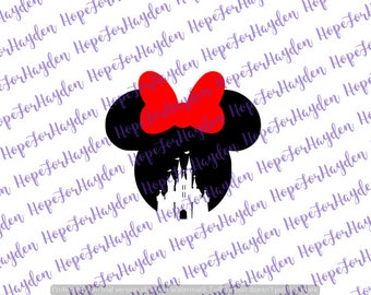 Disney Castle Minnie SVG | Minnie Mouse SVG | Disney Castle Minnie | Disney Castle svg | Disney SVG