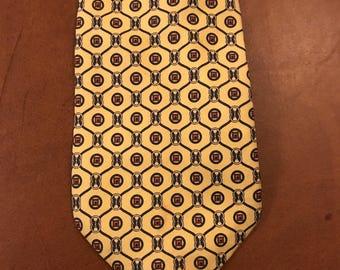 Vintage Gucci Tie 1980s yellow