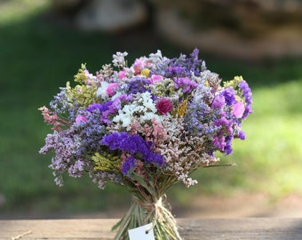 Dried flower bouquet. Wedding Flowers, Rustic flower bouquet , Natural flower decor , Rustic bouquet.