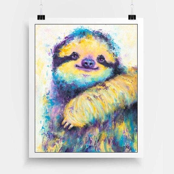 Cute Sloth Art