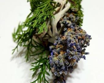White Sage, Juniper and Lavender Botanical Incense Stick (Smudge)