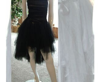 Gothic pagan steampunk event dress little black dress lace up back tattered skirt alternative wedding dress. Size 4/5