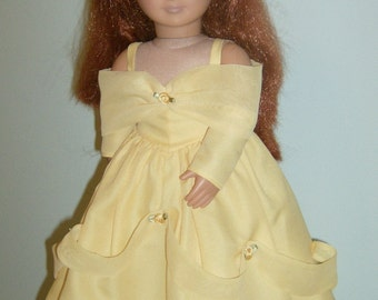 Free shipping! 8 piece Belle of Beauty and The Beast style ball gown 18 inch doll ensemble made to fit Our Generation or American Girl Dolls