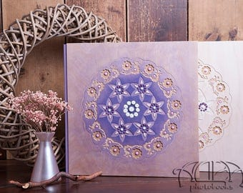 Personalized wedding flush mount photo album; Mother of the bride gift; Personalized wedding gift;Baby's first photo album; Fathers day gift