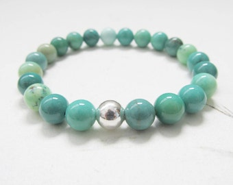 Chrysoprase bracelet, yoga bracelet, gemstone bracelet